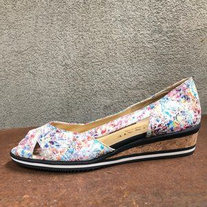 New Stunning Italian Multi-colored Leather Sandals
